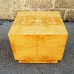 Image of Milo Baughman Era Burled Cube Table