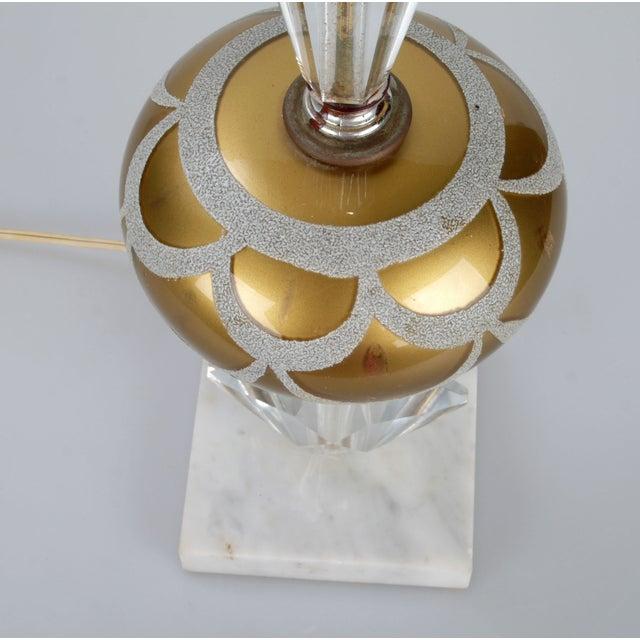 Italian Crystal & Marble Table Lamp - Image 8 of 10