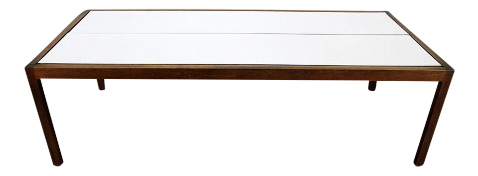 Charming Lewis Butler For Knoll Walnut U0026 White Laminate Coffee Table