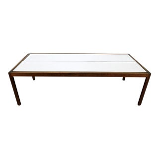 Lewis Butler for Knoll Walnut & White Laminate Coffee Table