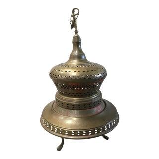 Vintage Brass Moroccan Brazier