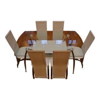 Cleo Glass Dining Set - Set of 7