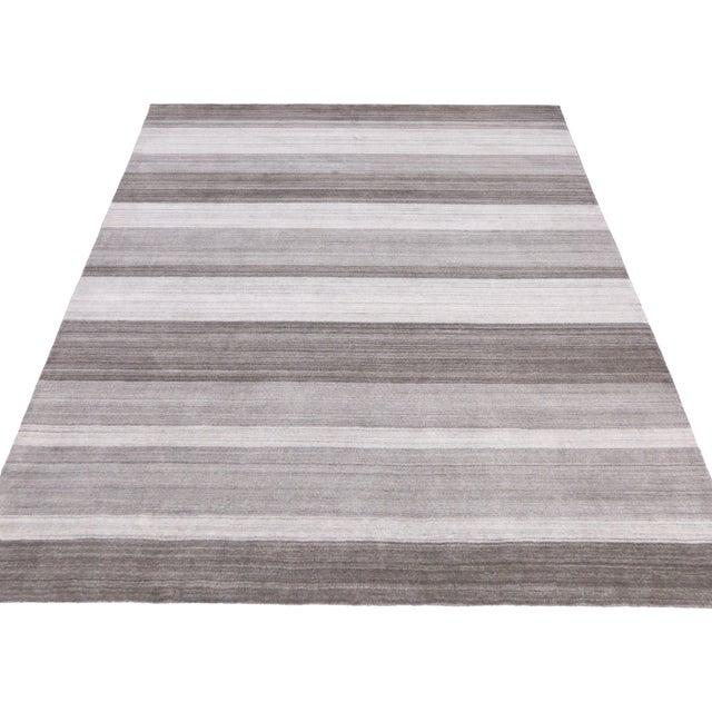 Modern-Style Gray Gabbeh Rug - 8′ × 10′ - Image 4 of 6