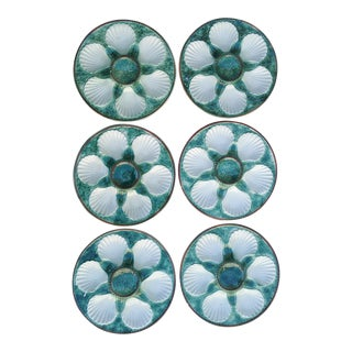 Majolica Oyster Plates - Set of 6