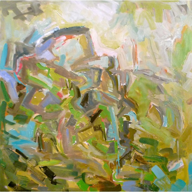 """""""Patagonia"""" Abstract by Trixie Pitts 36""""x36"""" - Image 1 of 3"""