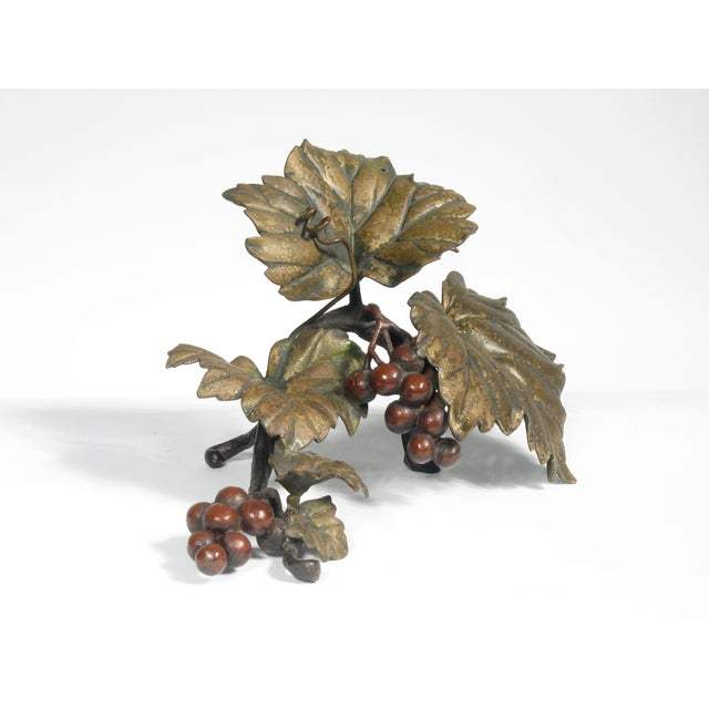 Bronze Grapes Decorative Object - Image 2 of 5