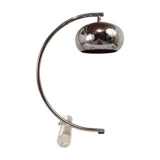 Modernist Chrome & Lucite Table Lamp
