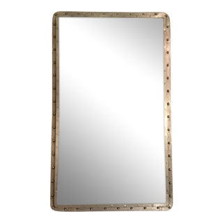 Large Industrial Steel Wall Mirror