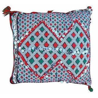 Green & Orange Moroccan Berber Pillow