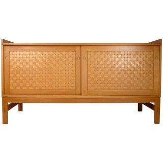 Danish Modern Woven Face Oak Sideboard