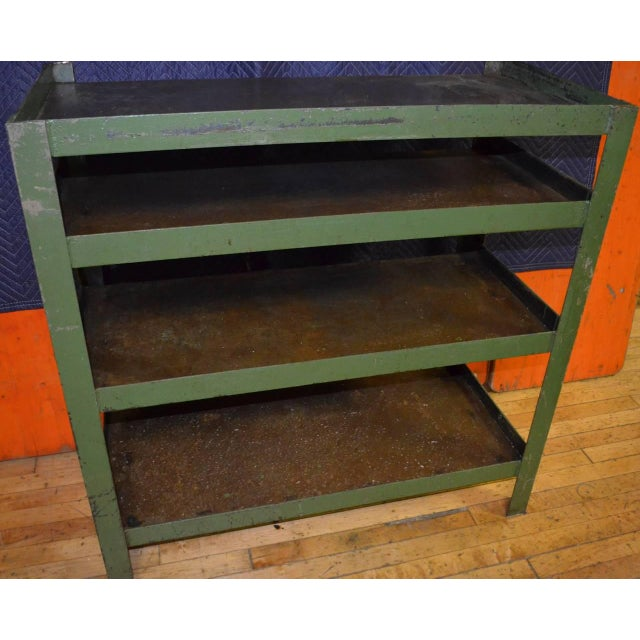 Image of Industrial Steel Cart with Four Shelves
