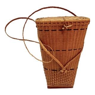Antique Primitive Hand Woven Trapper Gatherer Basket