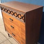 Image of Mid-Century Formica Top Highboy Dresser