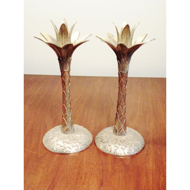 Vintage Brass Pineapple Candle Holders - A Pair - Image 3 of 7