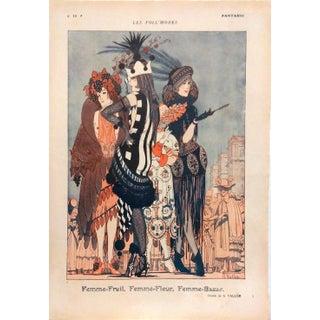 "Armand Valle 1919 Fantasio ""Les Foll' Modes"" Print"