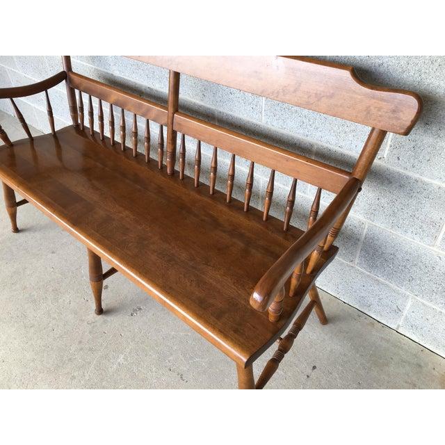 Ethan allen nutmeg maple bench chairish ethan allen nutmeg maple bench image 3 of 11 sciox Image collections