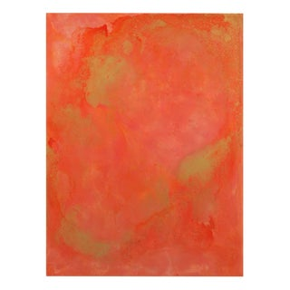 AN4 Coral and Salmon Abstract Resin Painting 6973
