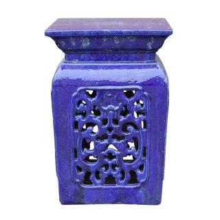 Chinese Blue Clay Garden Stool