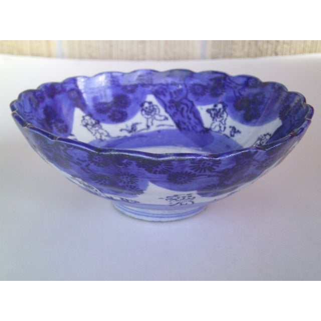 19th Century Blue & White Oriental Bowl - Image 2 of 9