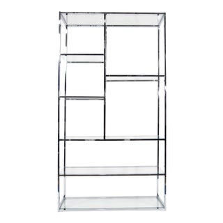Milo Baughman Glass Shelf Etagere
