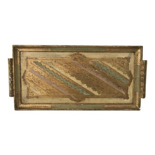Florentine Tray With Pink, Yellow, & Green Accents