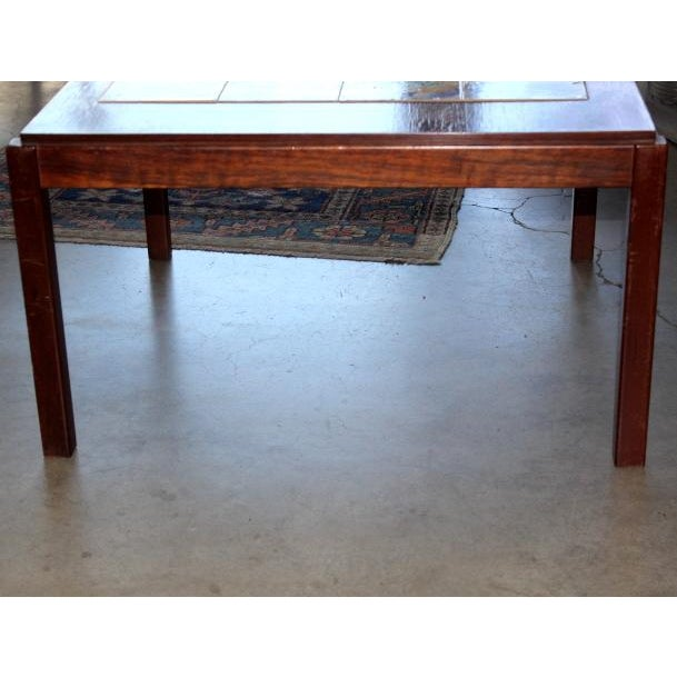 Image of Rosewood Tile Top Coffee Table With Brigantine