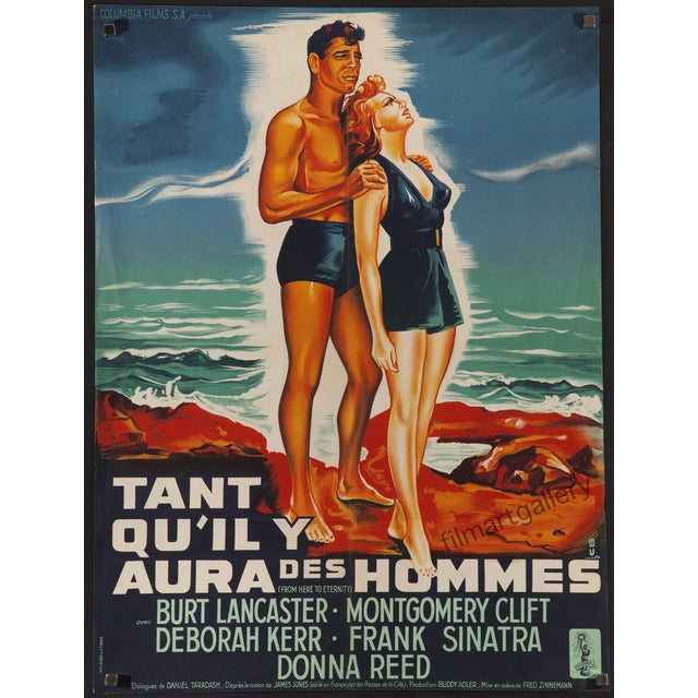 """From Here to Eternity"" 1955 French Film Poster - Image 2 of 2"