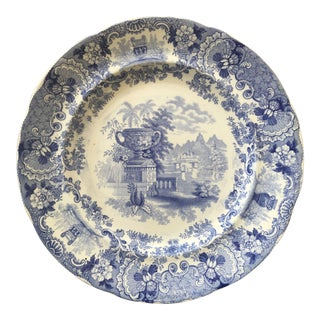 1840's Blue & White Staffordshire Transferware Plate