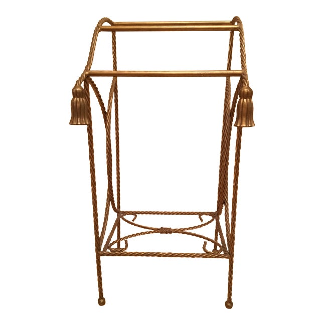 Metal Towel Rack With Tassels - Image 1 of 4