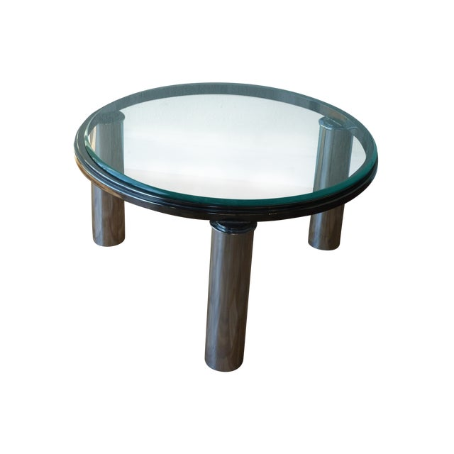 Chrome Tube Leg Coffee Table With Glass Top Chairish