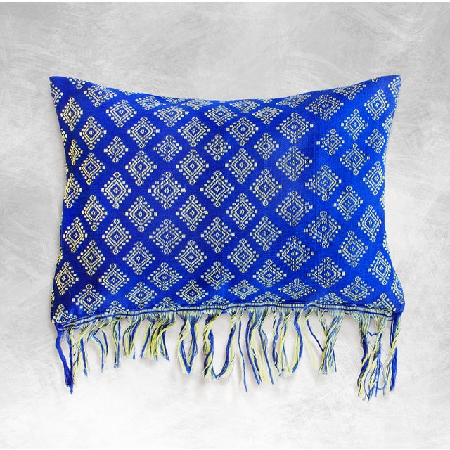 Image of New Indigo Ikat Pillow Cover, Indigo Boho Pillows