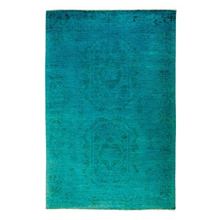 """Overdyed Hand Knotted Area Rug - 5'3"""" X 7'10"""""""