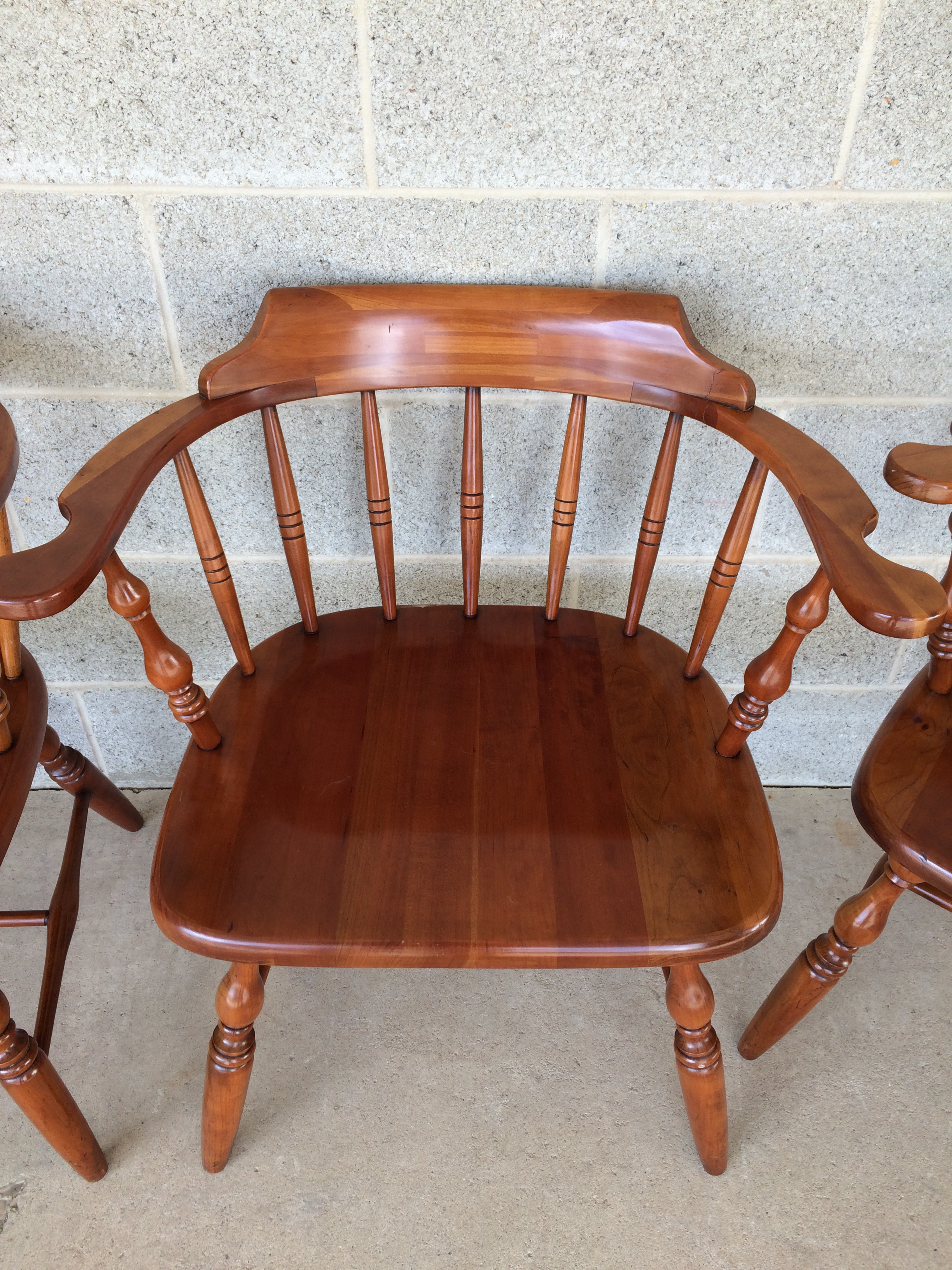 High Quality Virginia House Solid Cherry Barrel Back Chairs   Set Of 4   Image 4 Of 10