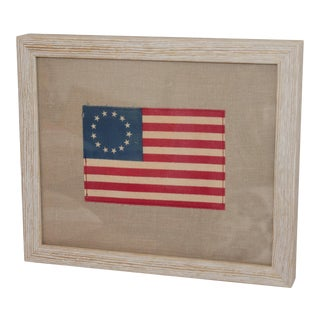 Framed Minaiture 13 Star American Flag