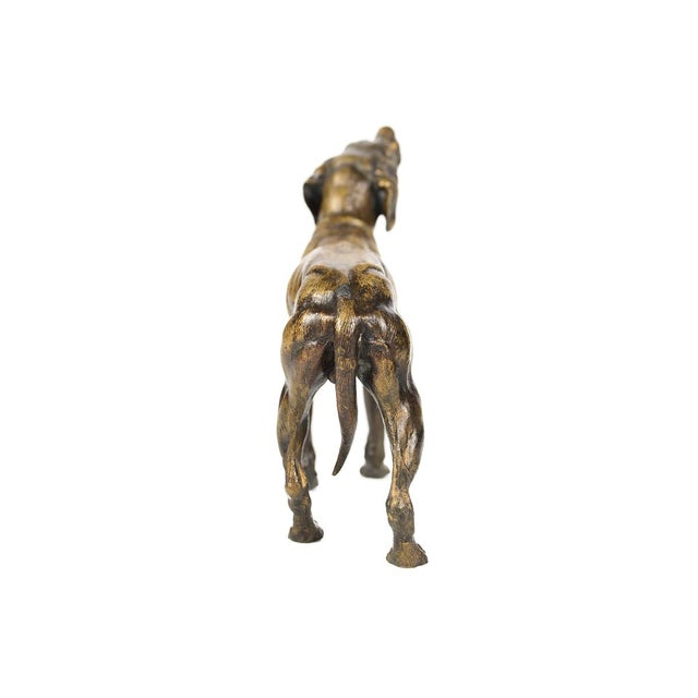 Image of 19th Century Bronze Hunting Dog Sculpture
