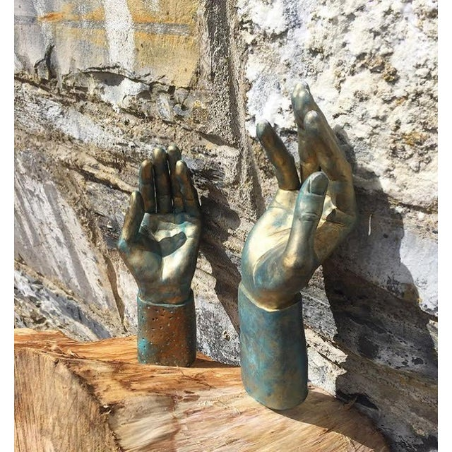 Hand-Made Sculptural Hands - A Pair - Image 3 of 8