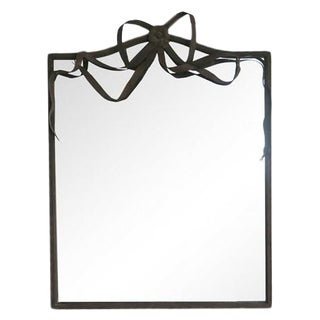 Metal-Framed Ribbon Mirror