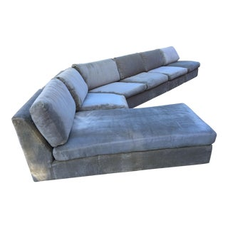 1960s Mid-Century Modern Curved Sectional Sofa Style of Harvey Probber