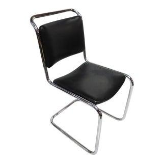 A Deco Chrome Chair