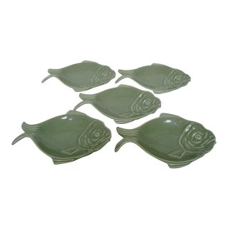 Vintage Hall Fish Shaped Plates - Set of 5