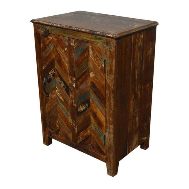 Image of Rustic Reclaimed Nightstand