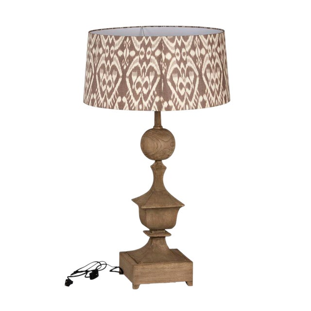 Carved Wood Table Lamp - Image 2 of 3