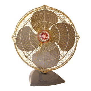 Vintage General Electric Metal Fan With Net Cover