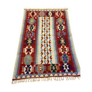 Turkish Handmade Anatolian Kilim Rug - 3′6″ × 5′