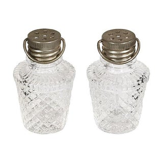 Barrel Shaped Glass Shakers - Pair