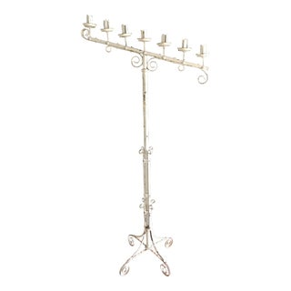 1920s Antique Iron Candelabra