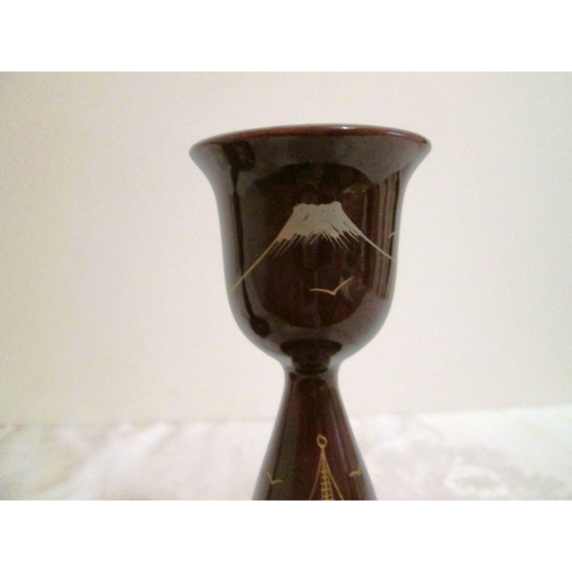22k & Abalone Inlaid Candle Holders - Pair - Image 5 of 6