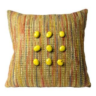Hand-Woven Pillow, Spring Fling