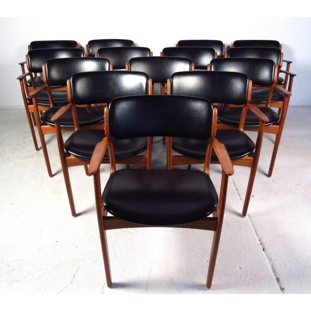 Mid-Century Teak Conference Table & 14 Eric Buck Dining Chairs - Image 3 of 10
