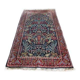 """Vintage Persian Area Rug - 3' x 5'1"""""""